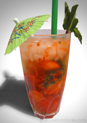 photo du cocktail Mojito fraise